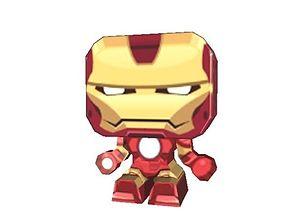 3D model realtime Iron Man Paper Cut Out Version 2