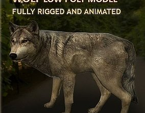 3D model Wolf Rigged and Animated