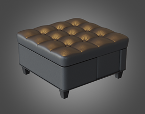 3D model Puff Coffee Table Grey Pbr Subdivision Ready
