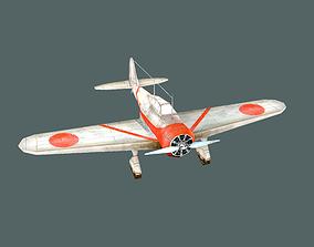 Aircraft Nakajima Ki-27 LOW POLY 3D asset realtime