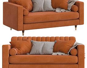 Cult Furniture Belgravia 2-Seater Sofa 3D model
