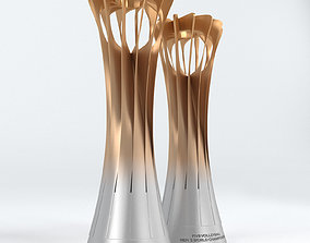Volleyball World Championship Cup Trophy low poly 3D asset
