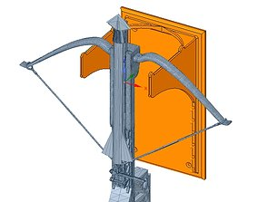 CROSSBOW MOUNT bow and arrow holder suspension 3d
