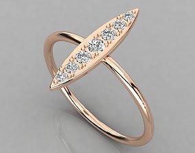wedding engagement Women solitaire ring 3dm render detail
