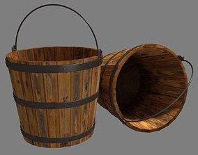 3D asset realtime Bucket Wooden