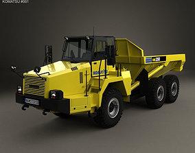 3D model Komatsu HM250 Dump Truck 2008