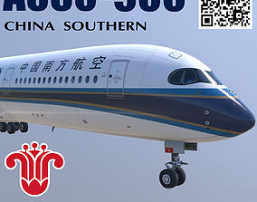 3D asset Airbus A350 China Southern livery