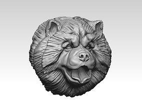 Chow chow head pendant 3D printable model