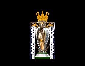 English Premier League Trophy 2015-2016 3D animated