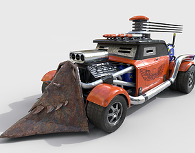 Post-Apocalyptic Car 3D asset