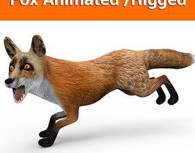 3D Fox Rigged Animated model animated