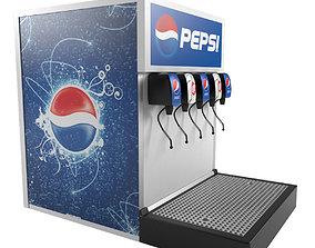 Pepsi Fountain Machine 3D model