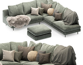 3D model Roche Bobois sofa green04