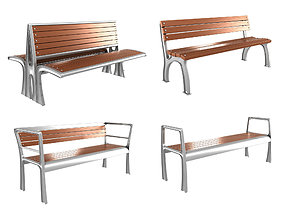 Modern Bench Collection 4 3D model