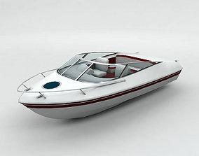 Sport Ski Motor Boat Lowest Detail 3D asset