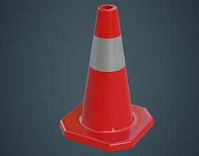 3D asset Traffic Cone 3A