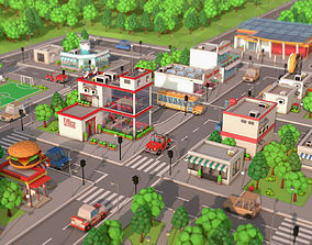 3D model Low Poly Cartoon City Pack