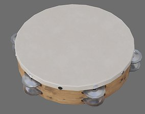 3D model VR / AR ready Tambourine 1A