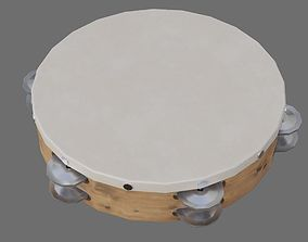 3D model VR / AR ready Tambourine 1A