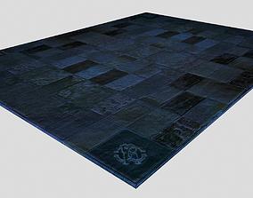 Roberto Cavalli Carpet Cavallino Blue and Brown colors 3D