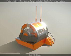 3D model Futuristic Drivers Cap Module High-Poly