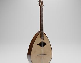 Guitar Mandola Mandoline instrument 3D african