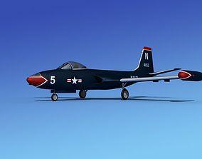 McDonnell F2H4 Banshee V04 3D model