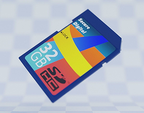 3D model customizable SD Card