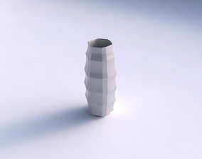 Vase hexagon with curved creases 3D print model
