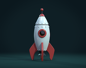 3D asset Cartoon Rocket PBR