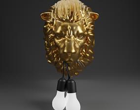 3D model Lion Lamp
