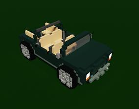 Voxel Jeep 3D model