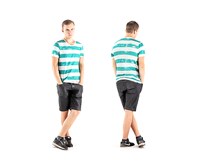 Man casual style 08 3D asset