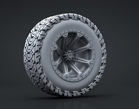 Truck Wheel and Tire 3D Print wheel