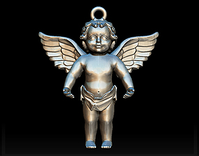 3D print model Angel charm
