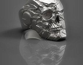 3D print model Robot skull Ring