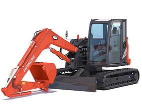 Compact Excavator Hitachi ZX85USB 3D