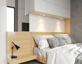 VISUALWORKS - CORONA BEDROOM SCENE contemporary 3D model