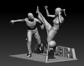 Capoeira Art 3D print model