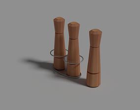 Spice Mill Wood 3D model