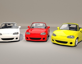 3D rigged Car cartoon 1