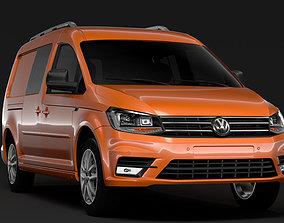 Volkswagen Caddy Maxi Crew Bus 2018 3D model
