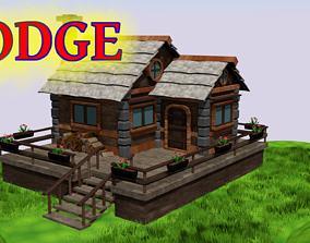 Lodge 3D Model Low poly low-poly landscape