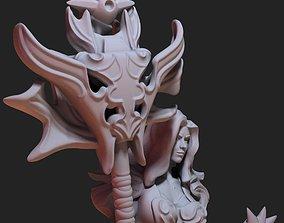 Fantasy Fire goddess 3D print model