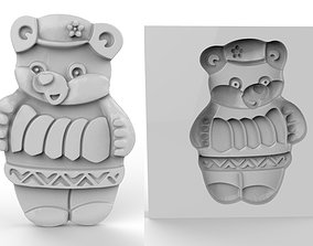 Cookie mold Bear 3D printable model