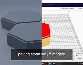 paving stone set 3D model