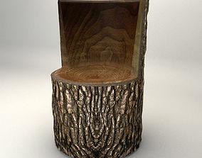 Wooden Chair 3D model VR / AR ready