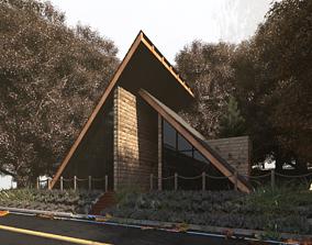 design HillSide House model 3d