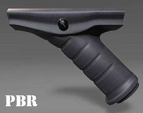 3D asset Angled Grip - Foregrip - Weapon Attachment - 3