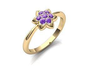 3D print model Ring Flower BK454